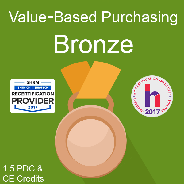 PBGH Value-Based Purchasing Bronze Certificate